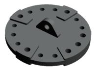 16 hulls koblingsplate forsterket