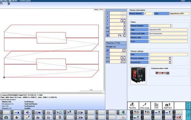 CNC-styring - under skjæring