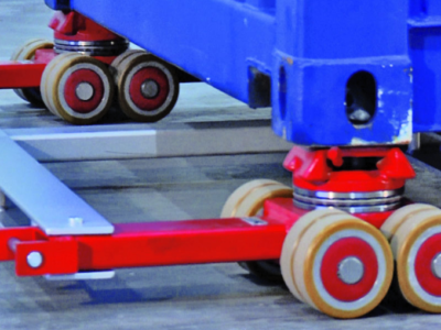 Transportrull for ISO container