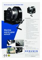 Gebuwin manuelle vinsjer – Marine og rustfritt stål 500 kg til 5000 kg