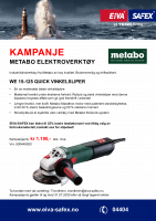 Kampanje Metabo vinkelsliper